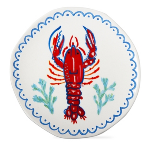 Lobster Appetizer Plate - Red Multi