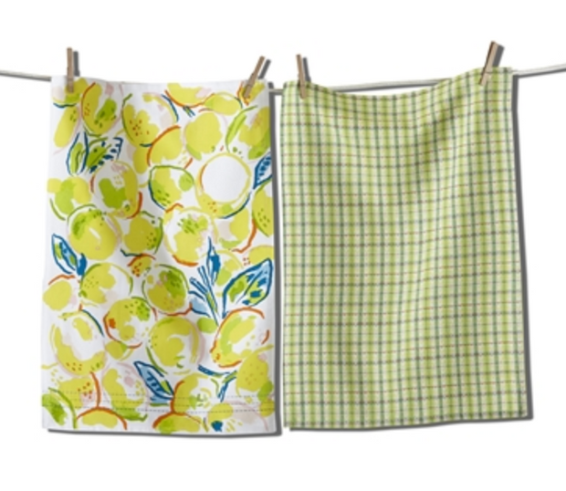 Lemons Dish Towel Set of 2 - Yellow Multi