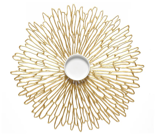 Chilewich Bloom Round Placemat - Gold