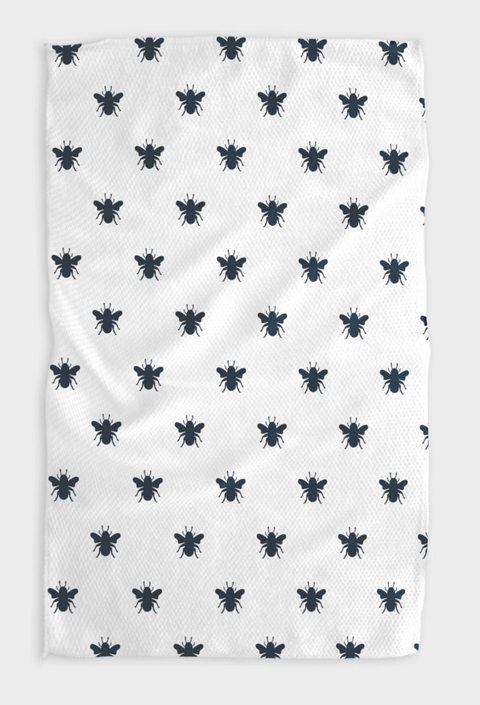 Queen Bee Navy Kitchen Tea Towel
