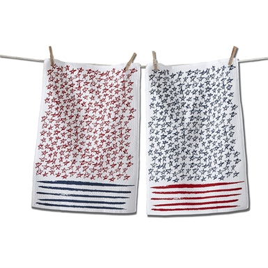 Starts and Stripes Dishtowel Set of 2