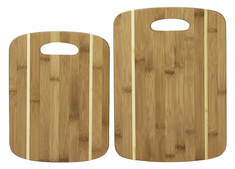 Totally Bamboo 2 Piece Stripe Cutting Board Set