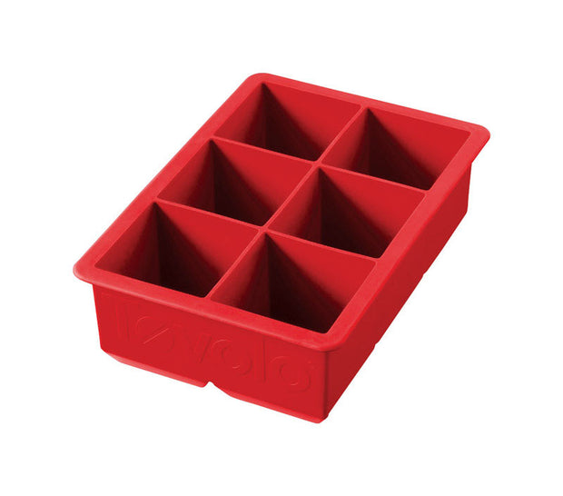 Silicone King Cube Ice Tray - Candy Apple Red