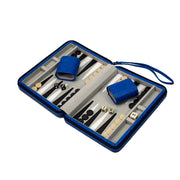 Travel Backgammon Set - Blue Ostrich