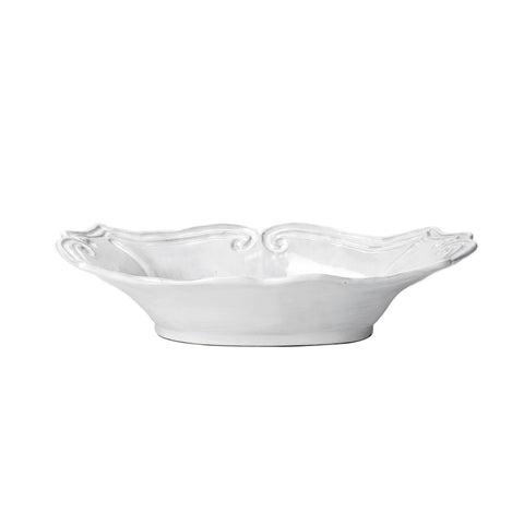 Vietri Incanto Baroque Medium Au Gratin Dish - White