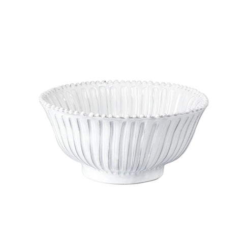Vietri Incanto Stripe Medium Serving Bowl - White
