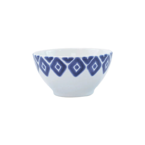 Vietri Santorini Diamond Cereal Bowl - Blue