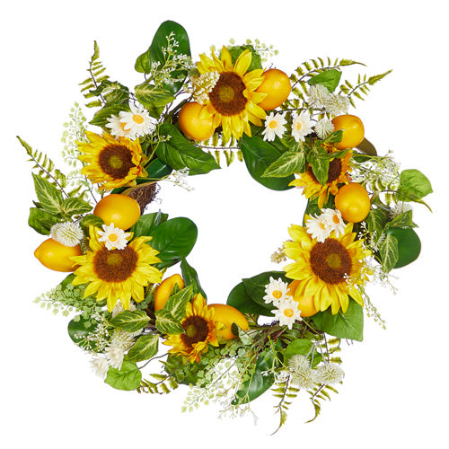 Sunflower and Lemon Wreath