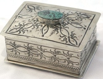 Small Stamped Box With Sunshine Design