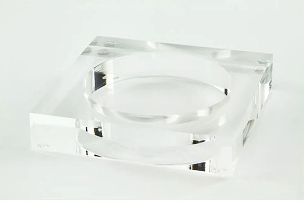 Clear Lucite Wine Coaster