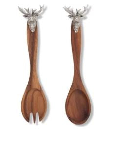 Stag Head Salad Servers