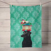 A Woman's Best Friend Tea Towel