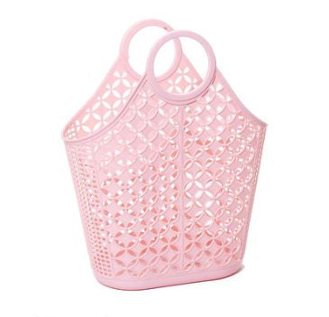 Atomic Tote Basket Bag - Pink