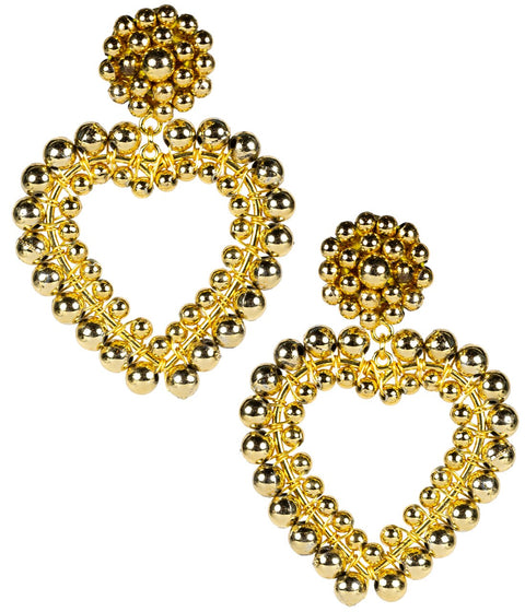 Roxy Gold Heart Earrings