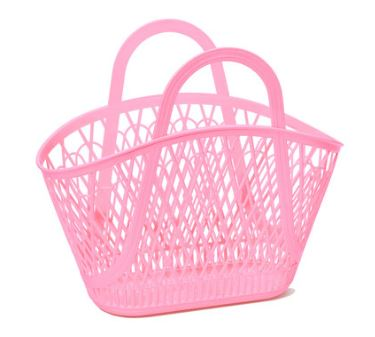 Betty Basket Tote - Bubblegum Pink