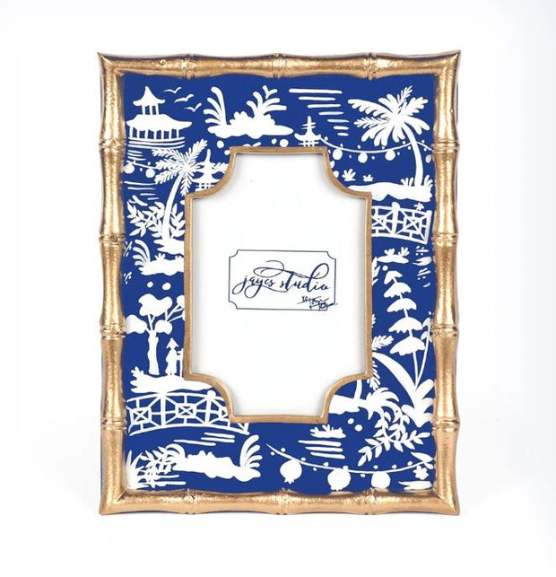 Shanghai Bamboo Photo Frame - Blue 4x6