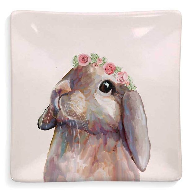 Bunny With Flower Crown Decorative Dish