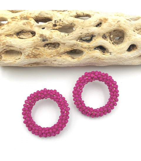 Camille Earrings - Hot Pink