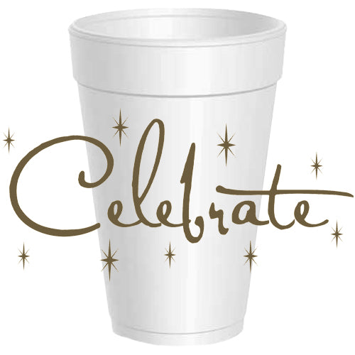Celebrate Wrap Around Styrofoam Cups