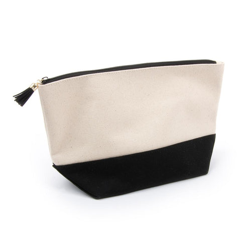 Black Canvas Cosmetic Pouch
