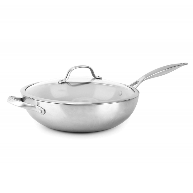 "GreenPan Venice Pro Evershine 12"" 5QT Covered Wok with Lid"