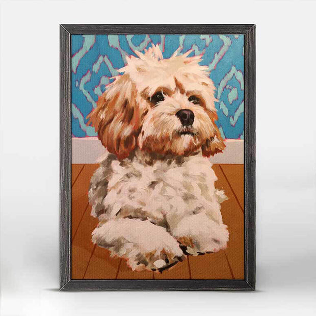 Dog Tales - Pippi Mini Framed Canvas 5x7