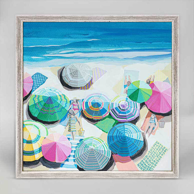East Coast Swim Mini Framed Canvas 6x6