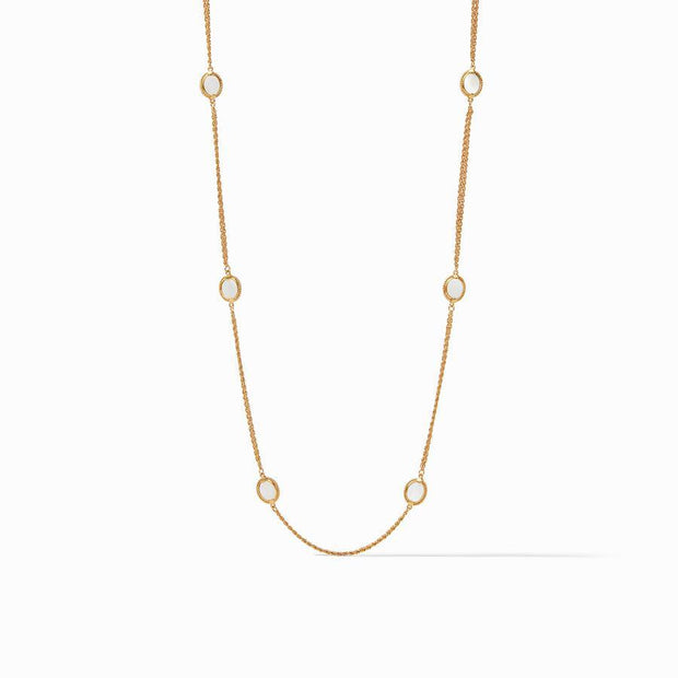 Julie Vos Calypso Station Necklace - Mother of Pearl