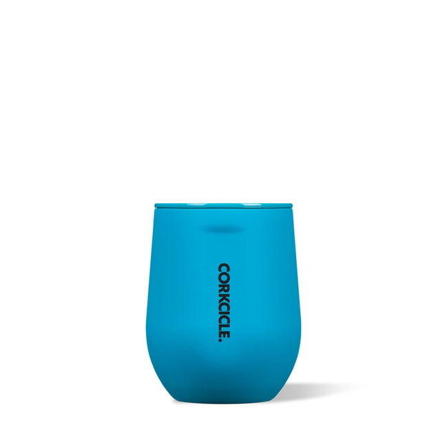 Corkcicle Neon Lights Stemless 12oz - Neon Blue