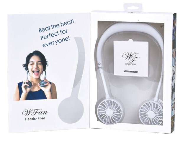 Time Concept WFan Wearable Hands Free Fan - White