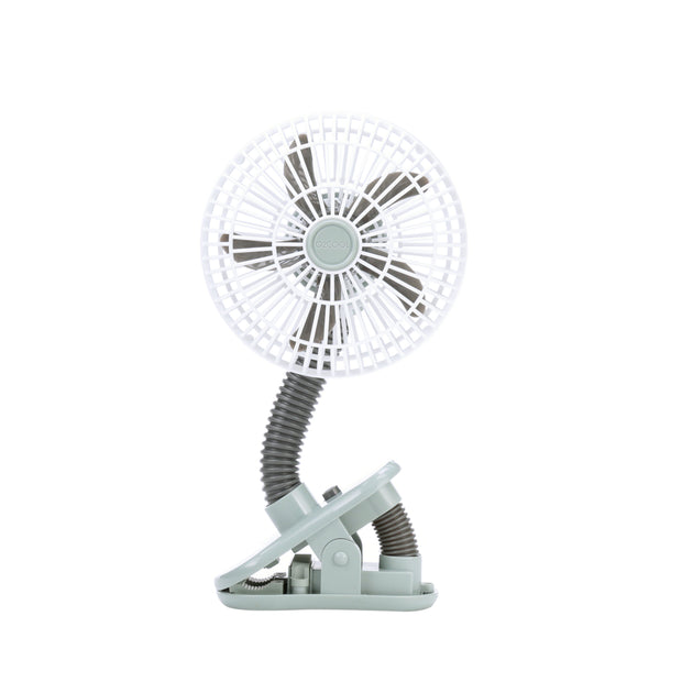 "O2COOL 4"" Battery Powered Portable Clip Fan-Gray"