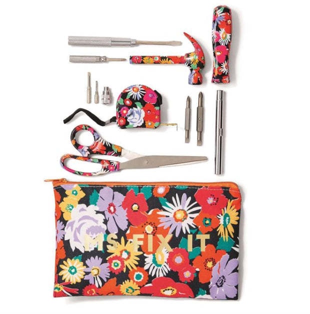 Ms. Fix It Floral Pattern Tool Set