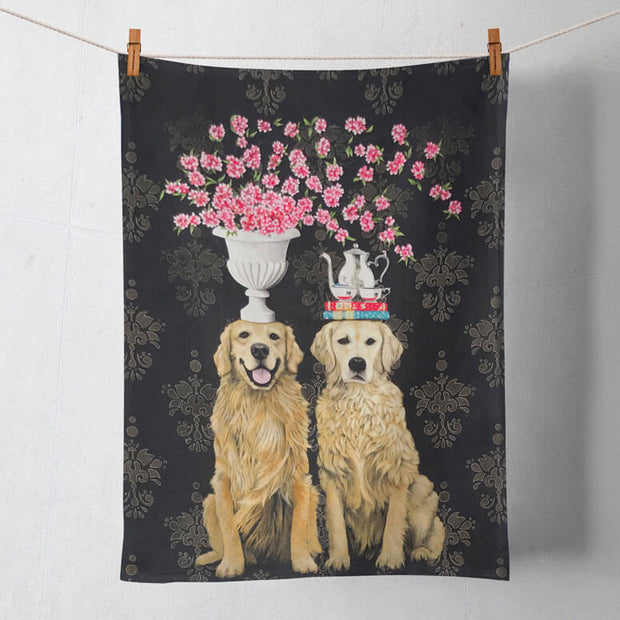 Golden Couple Tea Towel