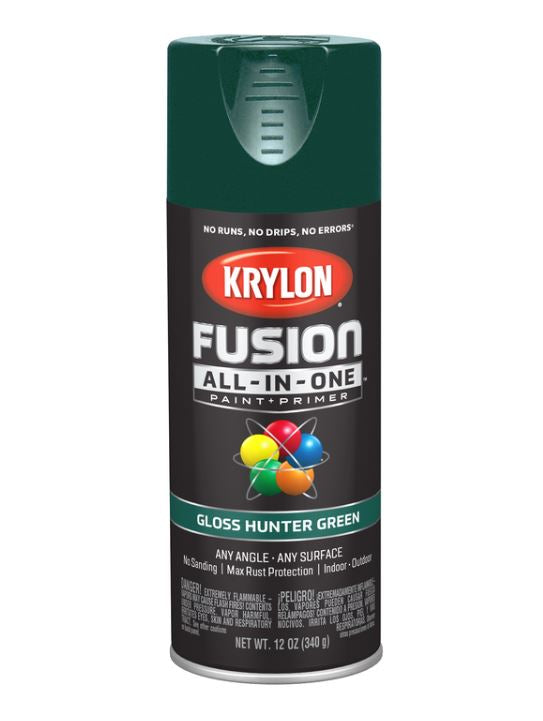 Krylon Fusion All-In-One Gloss Hunter Green Paint + Primer Spray Paint 12 oz.