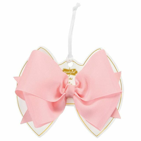 Hair Bow with Clip - Light Pink