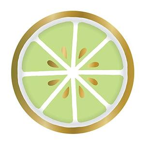 Lime Paper Plate