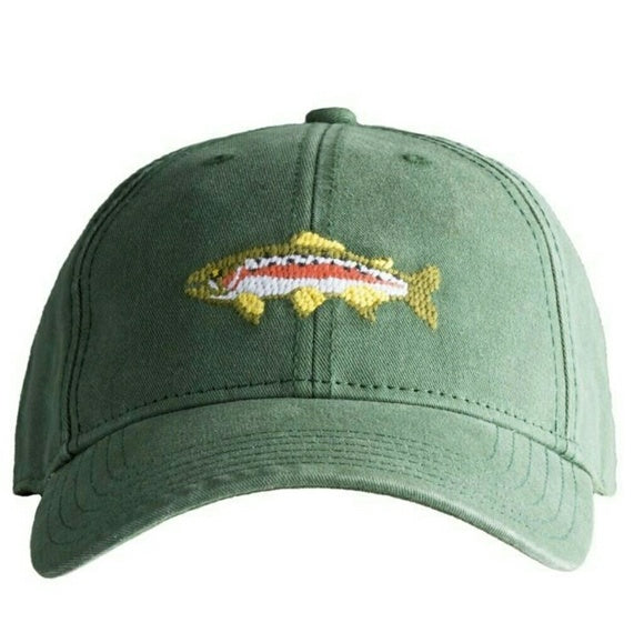 Trout On Pine Green Hat