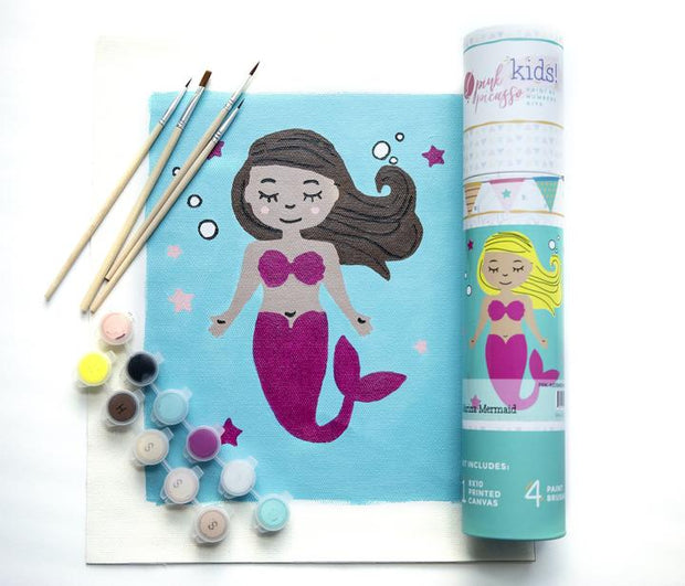Paint by Numbers Canvas Kit for Kids - Mermaid