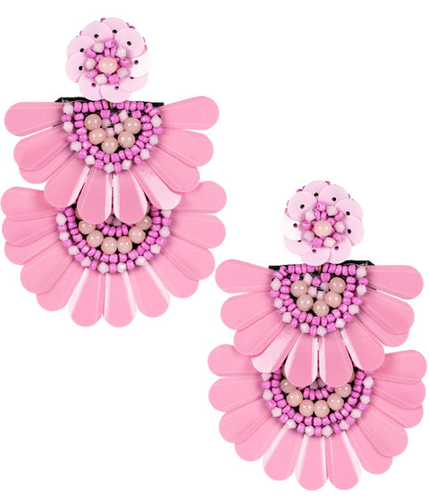 Natalie Pink Earrings