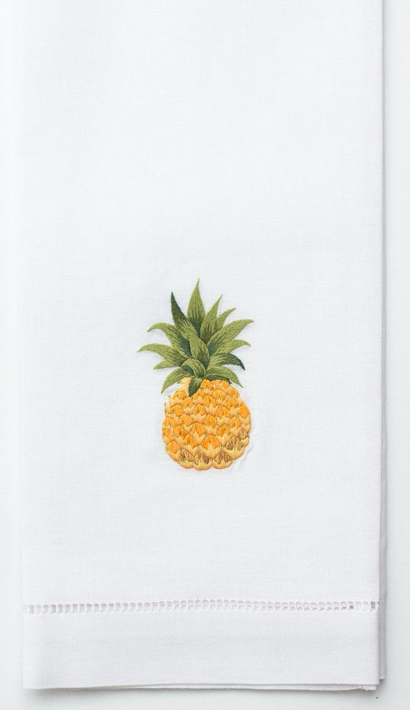 Embroidered Hand Towel - Pineapple
