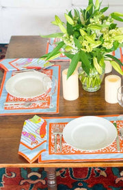 Gretchen Scott Coral Perfection Napkin