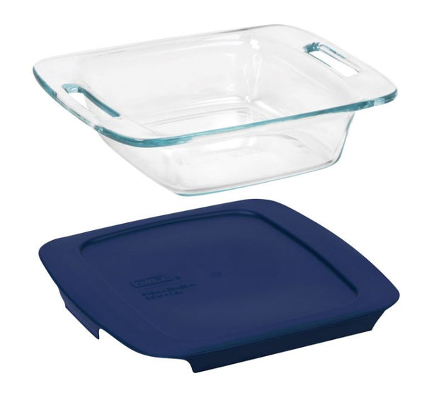 Pyrex Square Baking Dish with Lid 8 x 8 in
