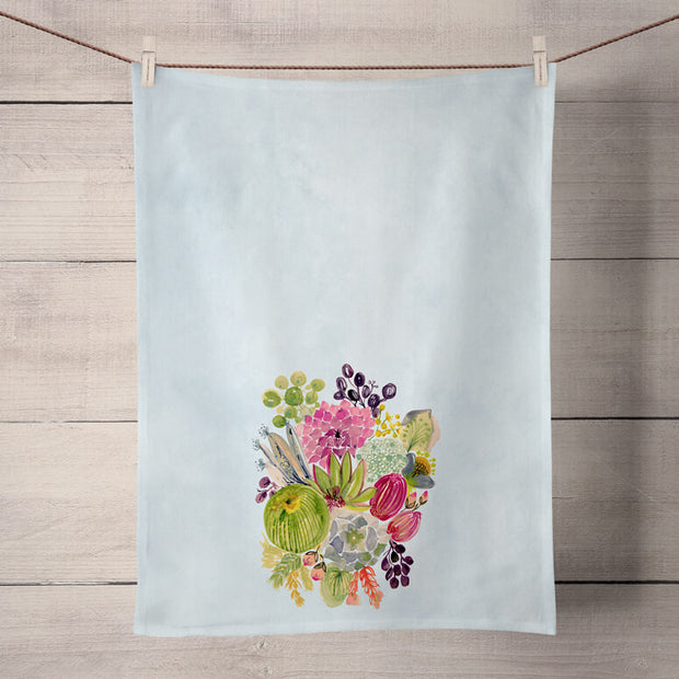 Succulent Bouquet Tea Towel