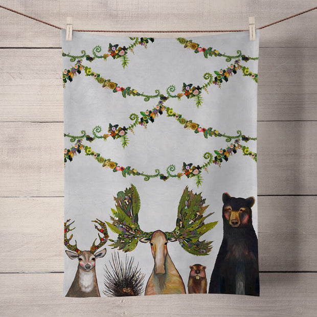 The Forest Five Tea Towel