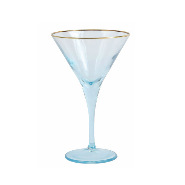 Vietri Rainbow Martini Glass - Turquoise
