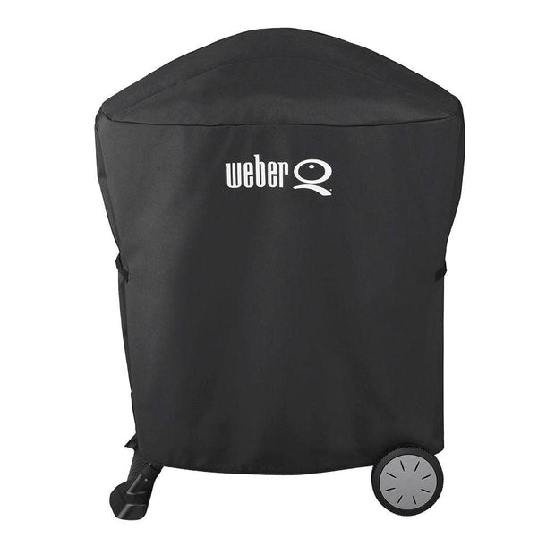 Weber Premium Grill Cover - Built For Q 100/1000/200/2000 with portable cart