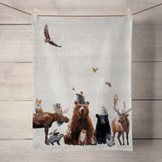 Woodland Bunch Tea Towel