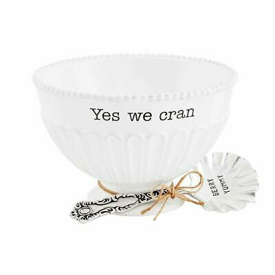 Yes We Cran Ceramic Dish
