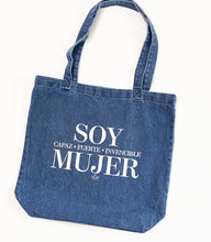 Load image into Gallery viewer, SOY MUJER DENIM TOTE BAG