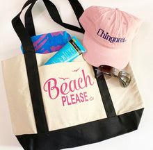 Load image into Gallery viewer, BEACH Please Tote bag